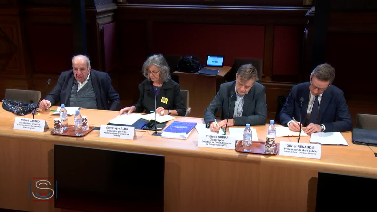 "Table ronde ""Grand Paris : une gouvernance à l'échelle territoriale ?"""