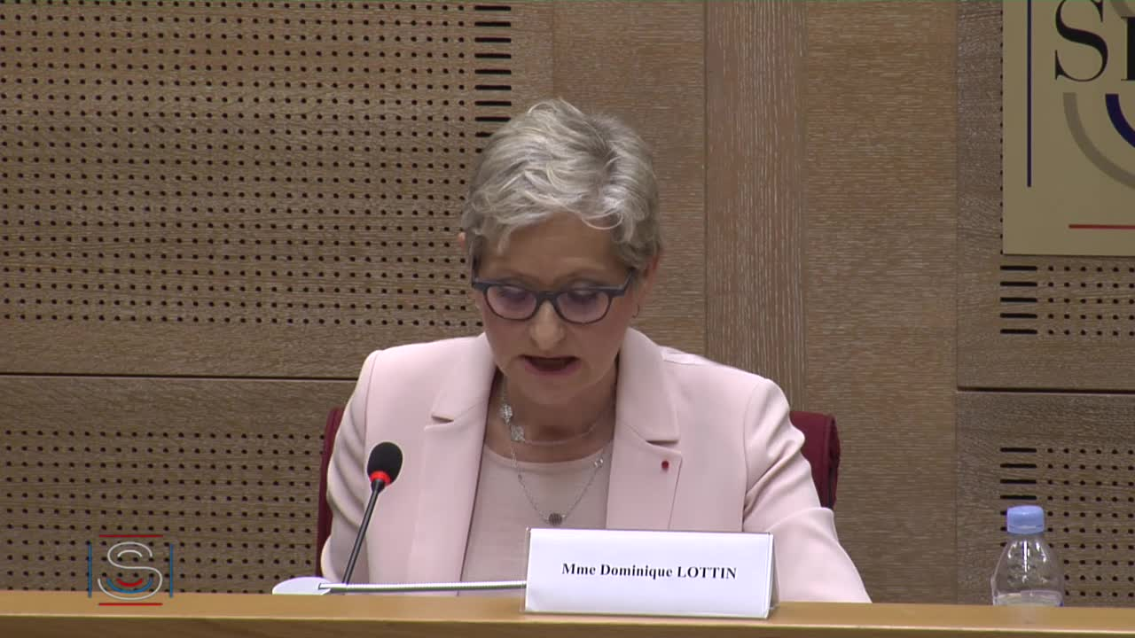 Article 13 de la Constitution - Audition Mme Dominique Lottin, candidate aux fonctions de membre du Conseil constitutionnel