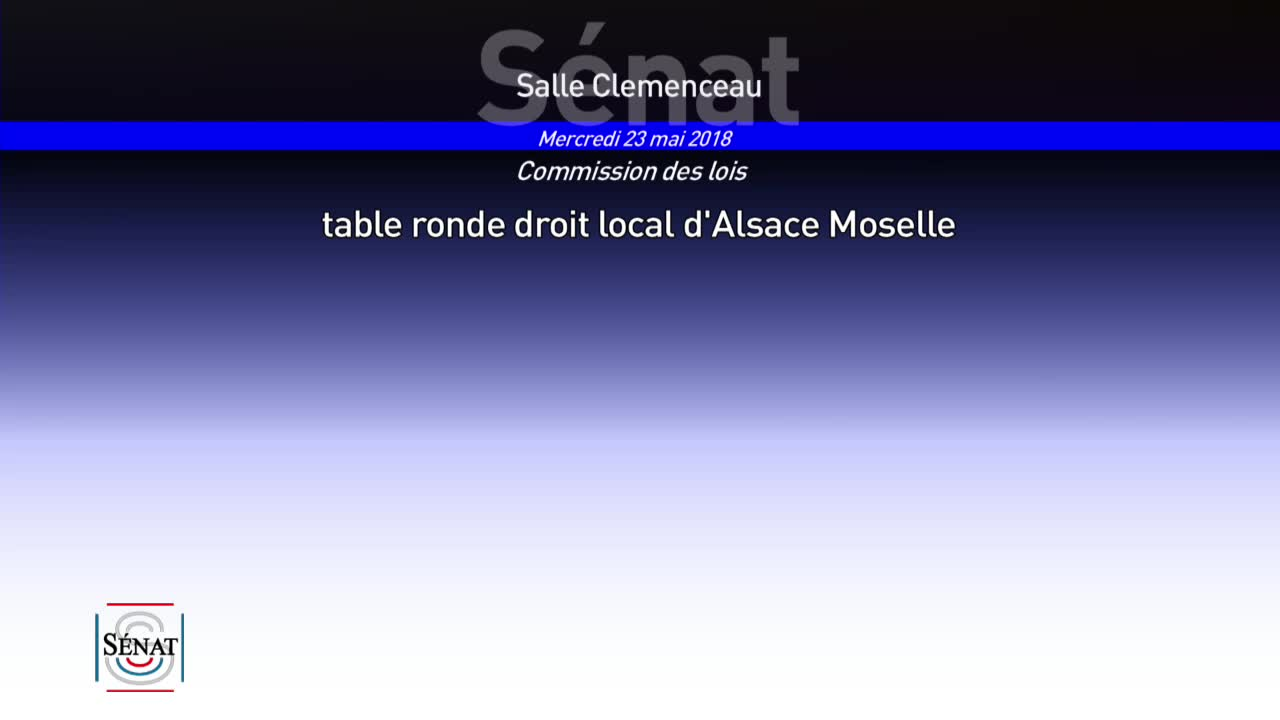 Table ronde droit local d'Alsace Moselle